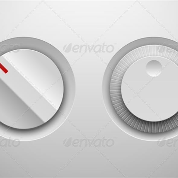 UI Control Knob Regulators