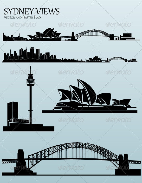Sydney Views - Buildings Objects