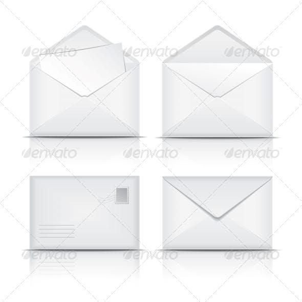 Set of White Envelopes