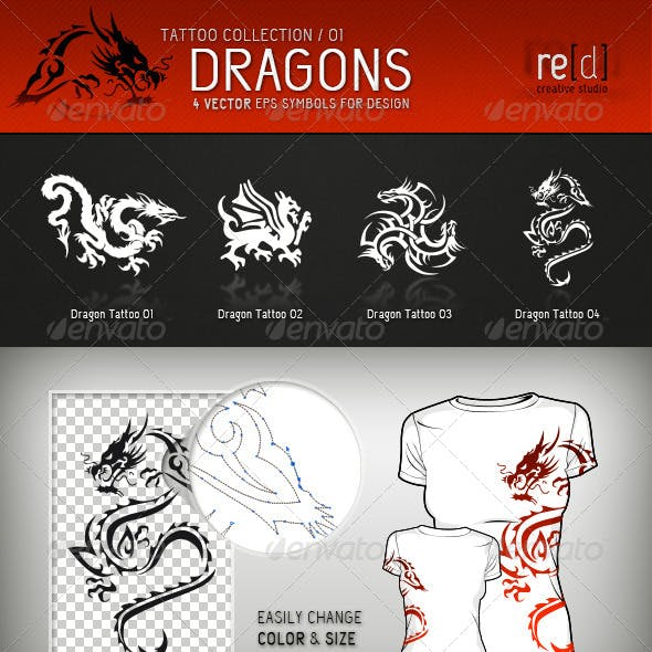 Dragon Tattoo Symbols