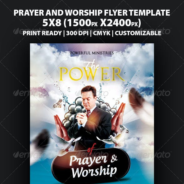 The Power Of Prayer And Worship Flyer