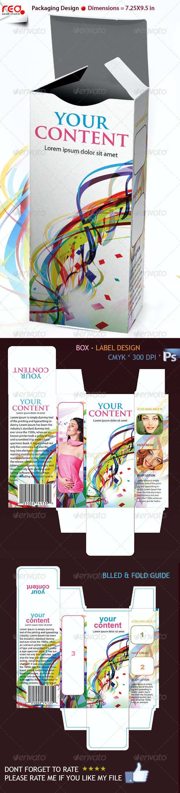 3D Box Template Design - Miscellaneous Print Templates
