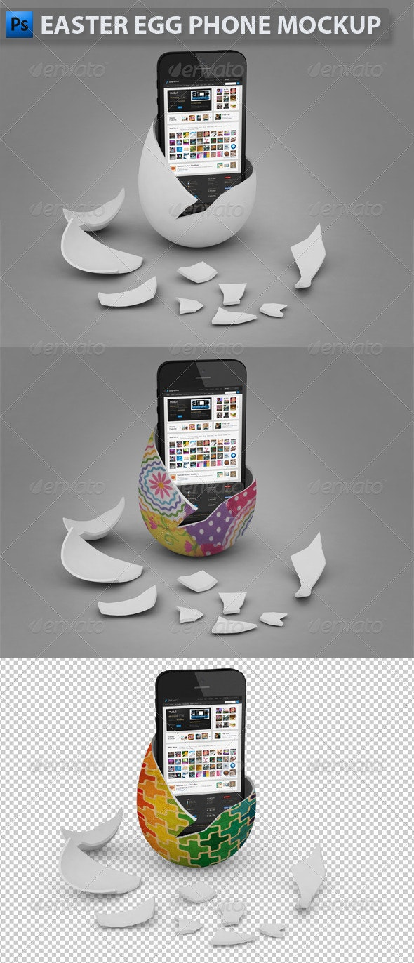 Easter Egg Phone Mockup - Mobile Displays