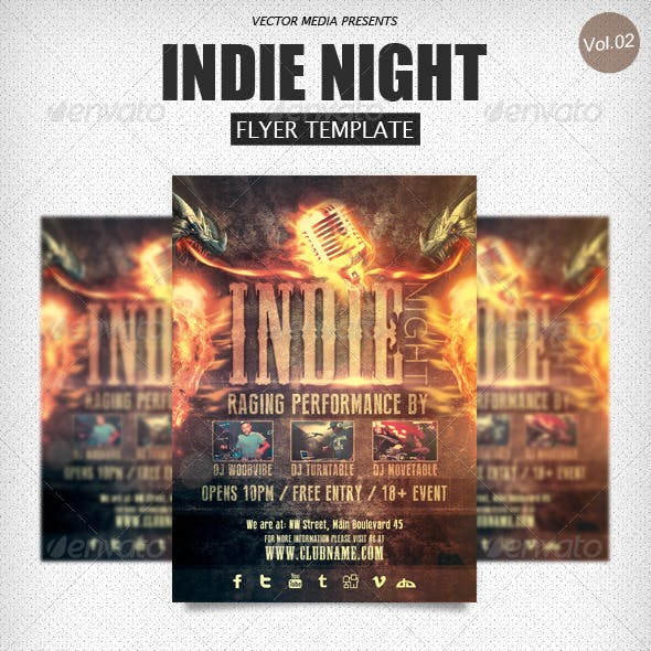 Indie Night - Flyer [Vol.2]