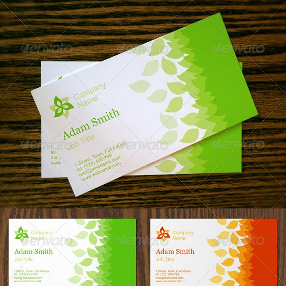 Seasonal Business Cards