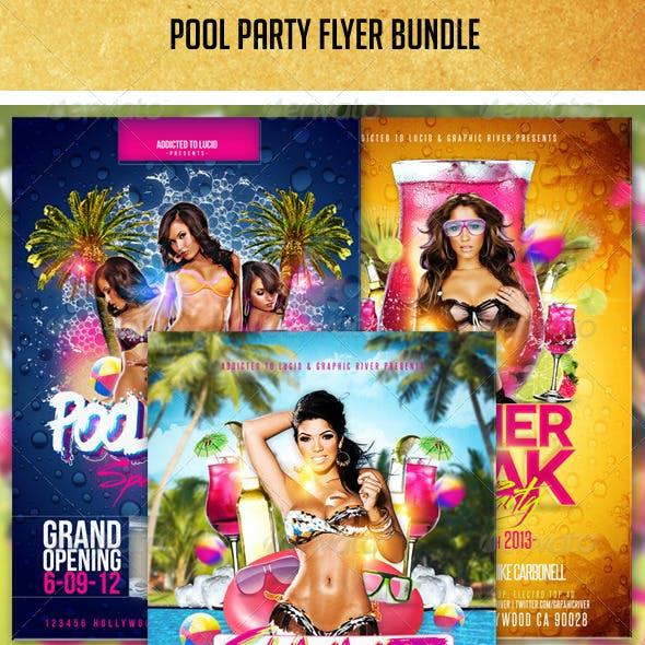 Pool Party Flyer Bundle