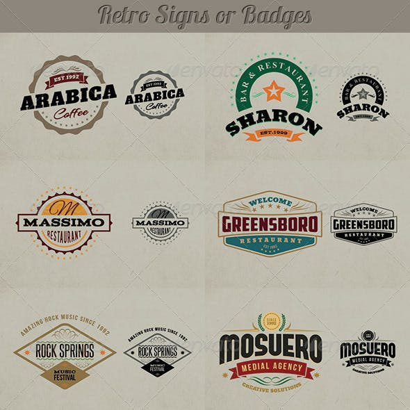 Retro Signs or Banners