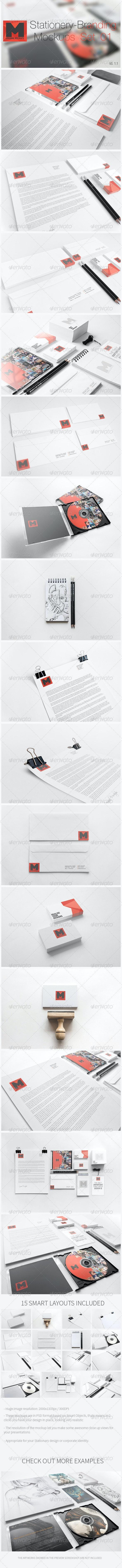 Stationery - Branding Mockups - Set 01 - Print Product Mock-Ups
