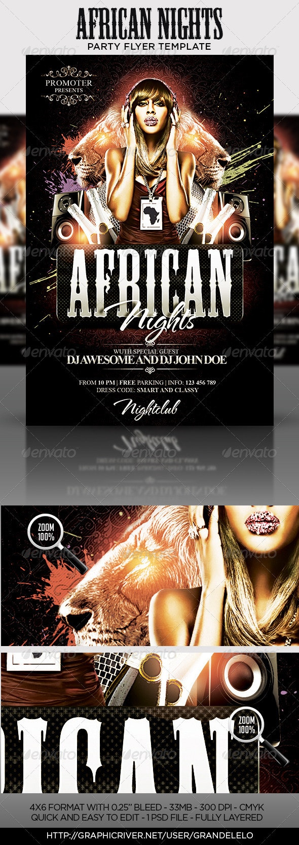 African Nights Flyer Template - Clubs & Parties Events