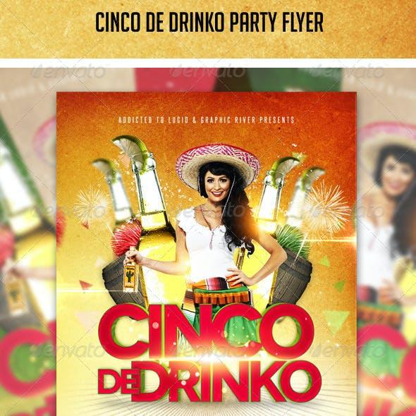 Cinco De Drinko Flyer