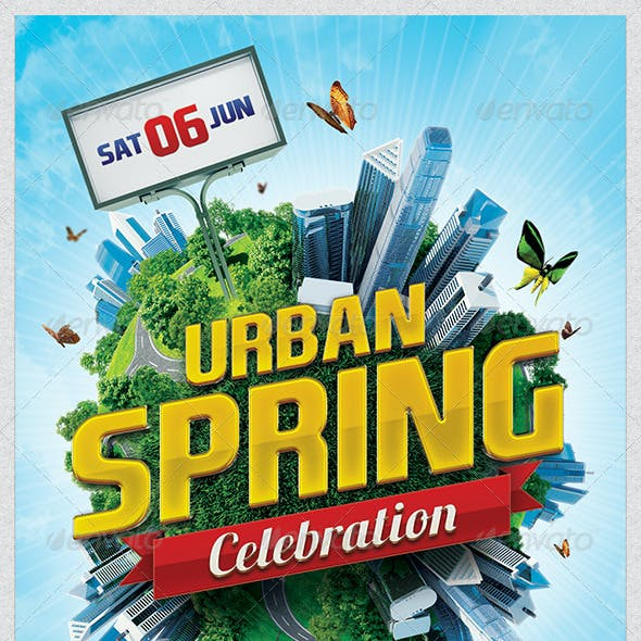 Urban Spring Flyer Template