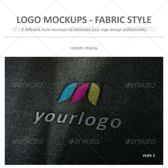 Logo Mockup Fabric Style