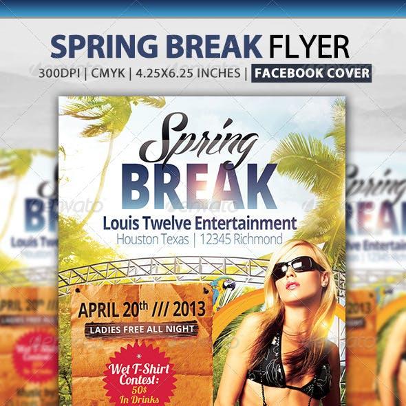 Spring / Summer Break | Flyer + Facebook Cover