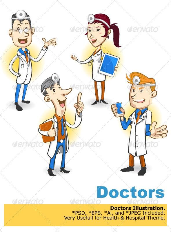 Doctor Character - Health/Medicine Conceptual
