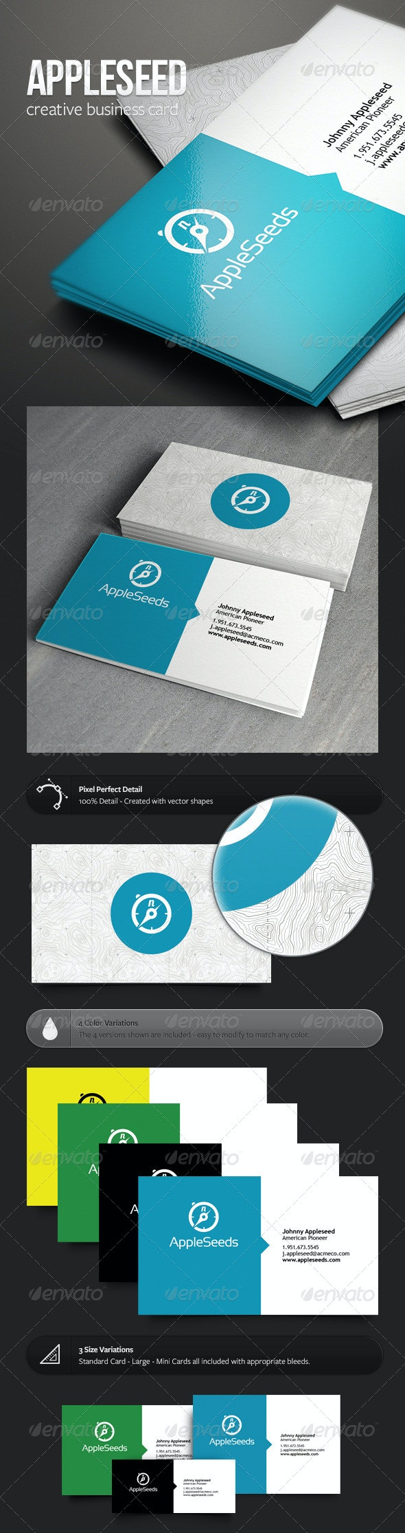 Appleseed Business Card - Creative Business Cards