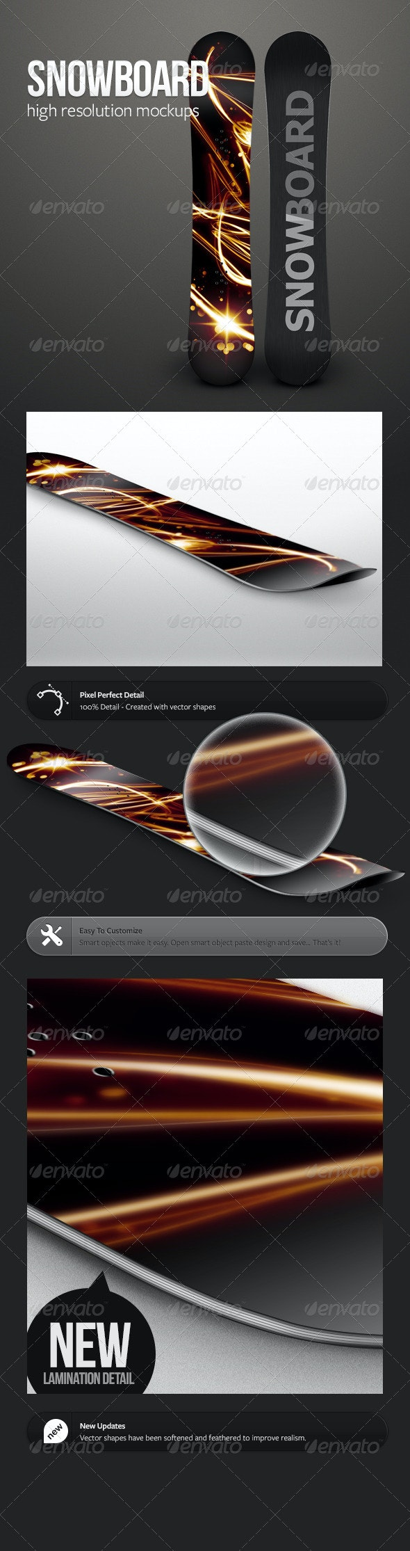 Snowboard Mockups - Miscellaneous Product Mock-Ups