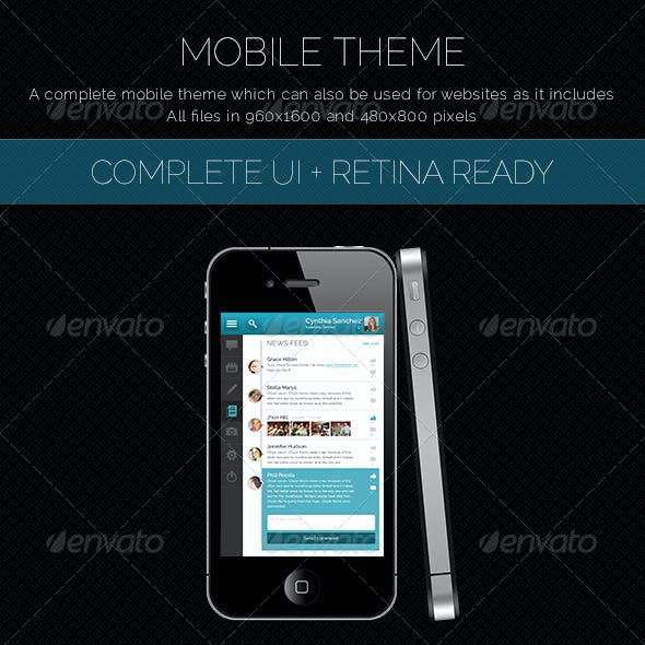 Mobile Theme With UI Set and Retina Ready