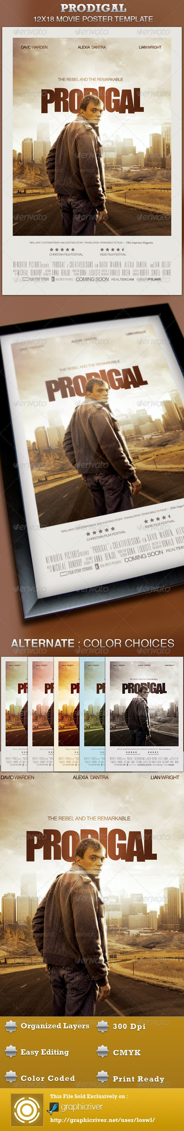 Prodigal Movie Poster Template - Church Flyers
