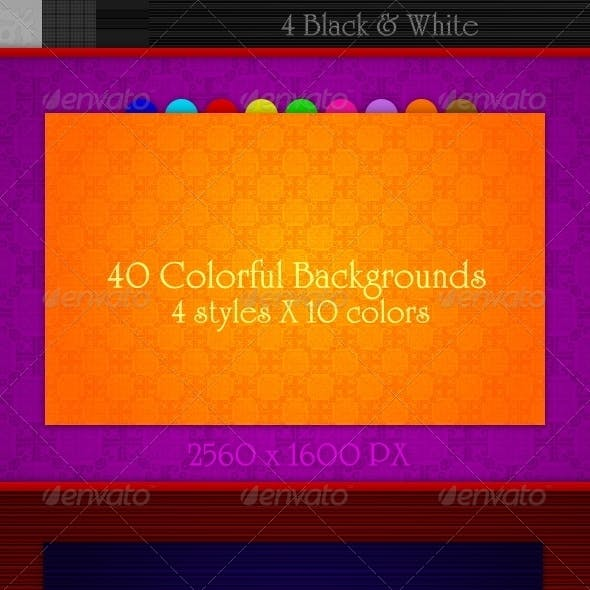 40 colorful backgrounds