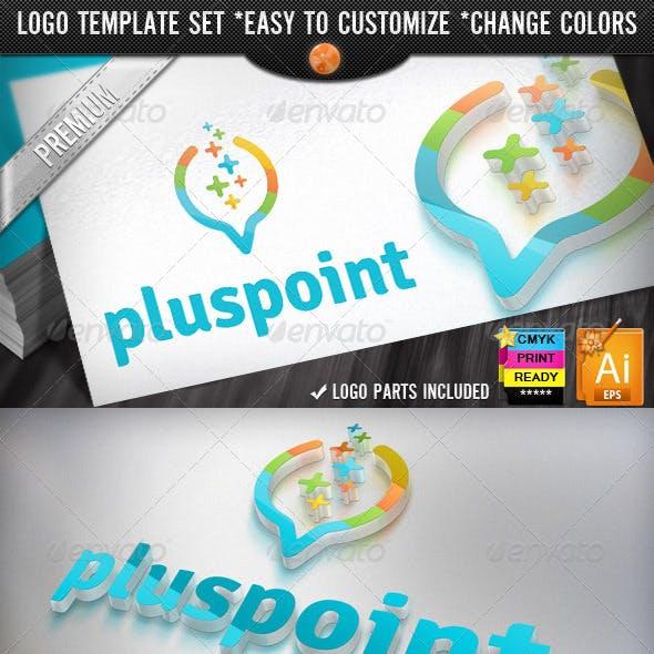 Digital Data Finder Apps Pixel Plus Point Logo