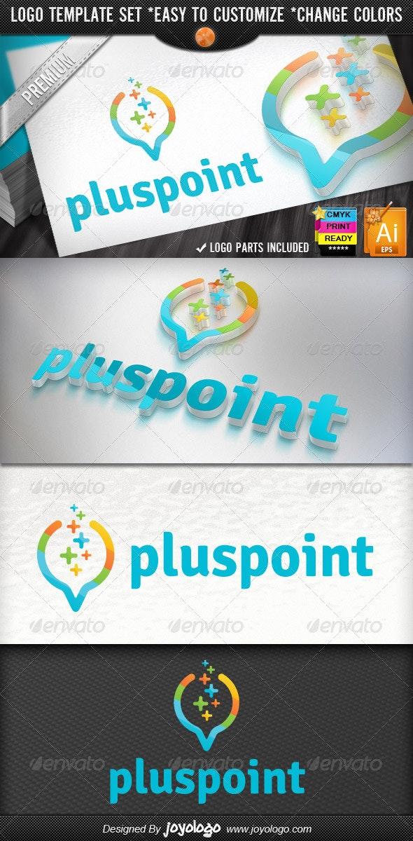 Digital Data Finder Apps Pixel Plus Point Logo - Objects Logo Templates