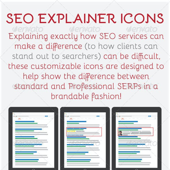 15 Google SERP SEO/Rich Snippets Explainer Icons