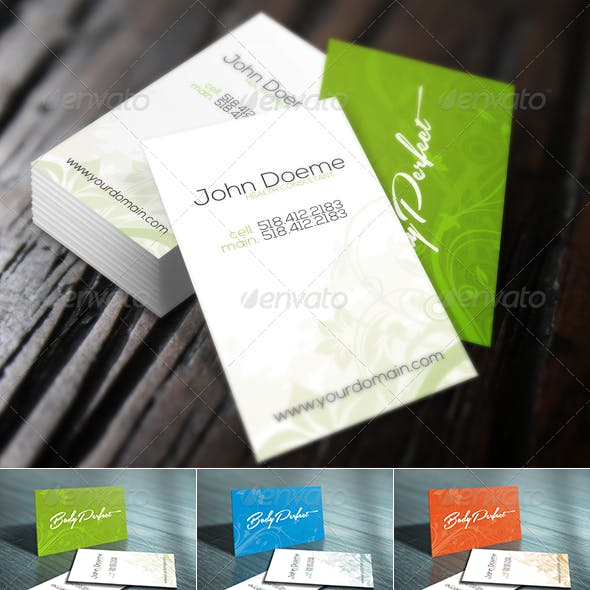 Wild Flower Business Card - Restaurant & Beauty SPA