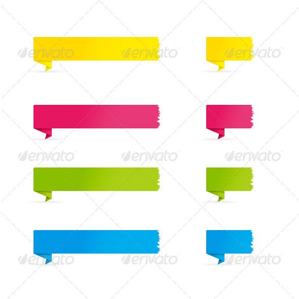 Folded Color Banners