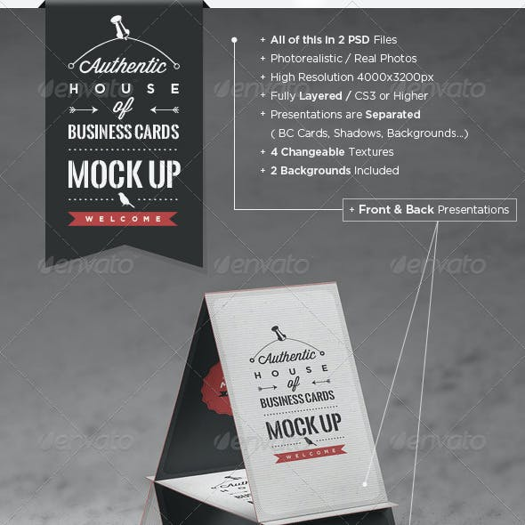 House of Business Cards | Mock-Up