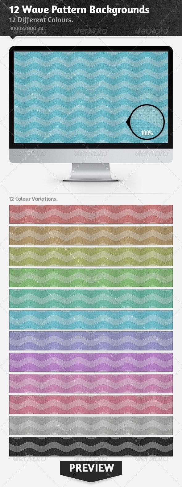 12 Wave Pattern Backgrounds - Patterns Backgrounds