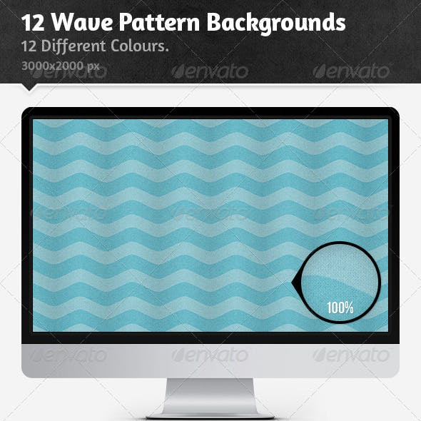12 Wave Pattern Backgrounds