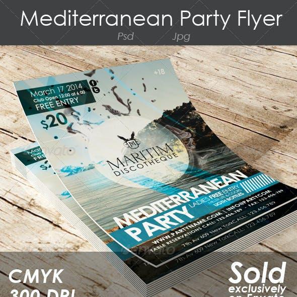 Mediterranean Party Flyer
