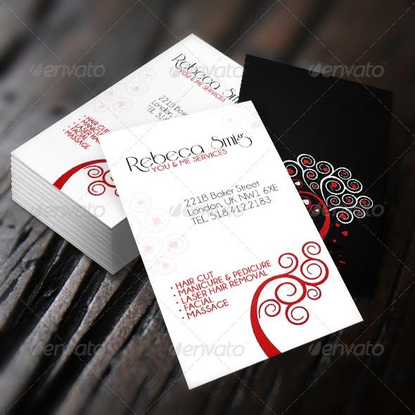 "Universal ""Me & You"" Elegant Business Card."