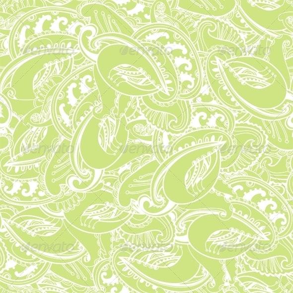 Seamless Elegant Paisley Lace Pattern - Patterns Decorative