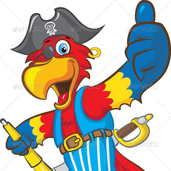 Pirate Parrot Mascot