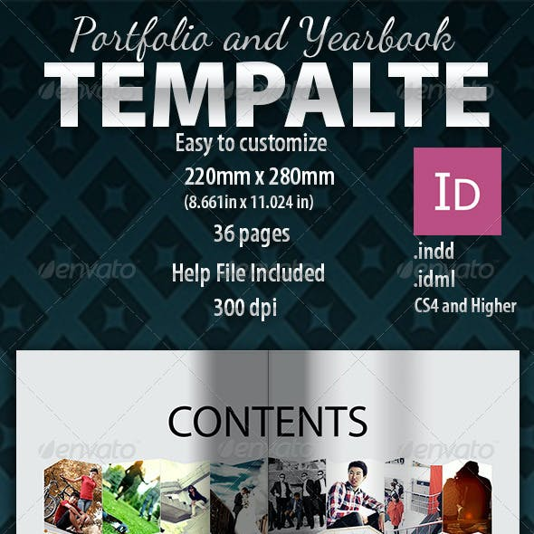 Yearbook-Photobook-Wedding book Template