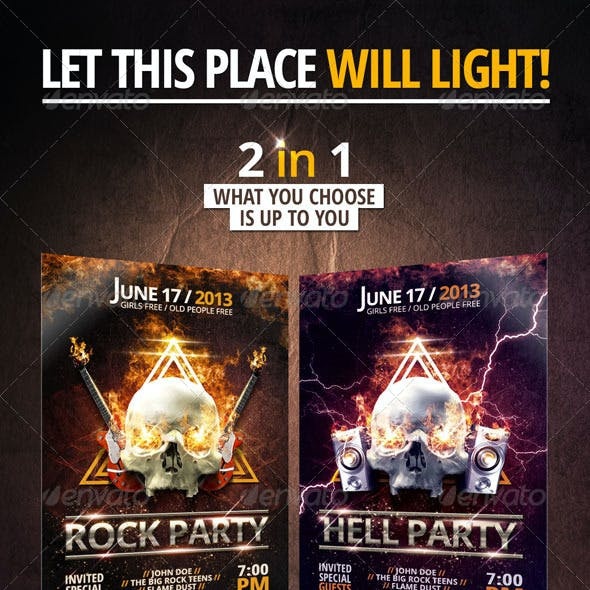 Rock/Hell Party Flyer