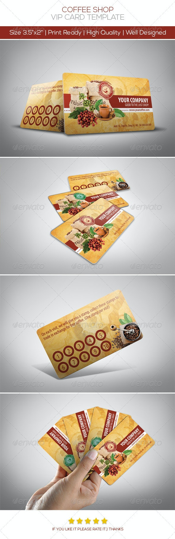 Coffee Card - Loyalty Cards Cards & Invites