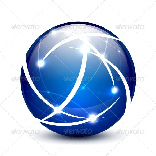 Vector Communication Globe Icon Concept
