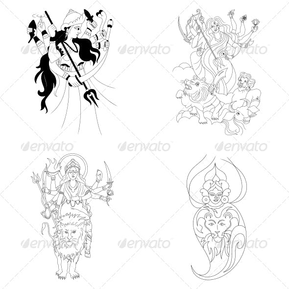 Maa Durga Graphics Designs Templates From Graphicriver