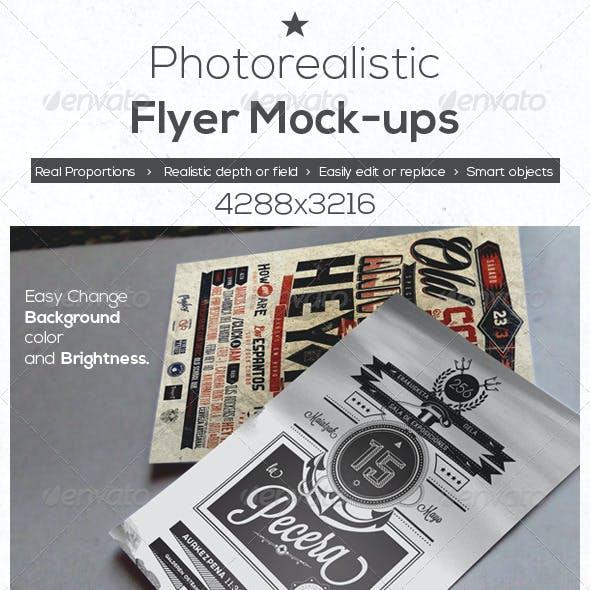 Photo Realistic Flyer Mock-Ups