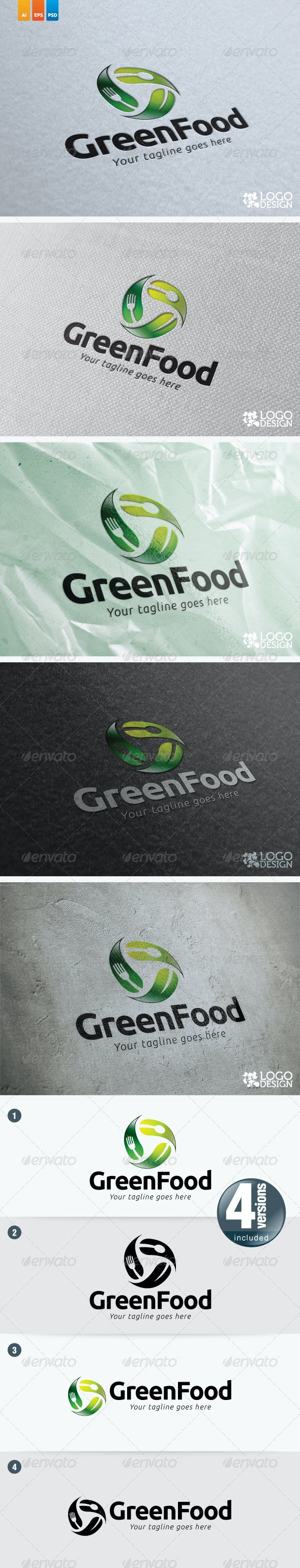 Green Food - Nature Logo Templates