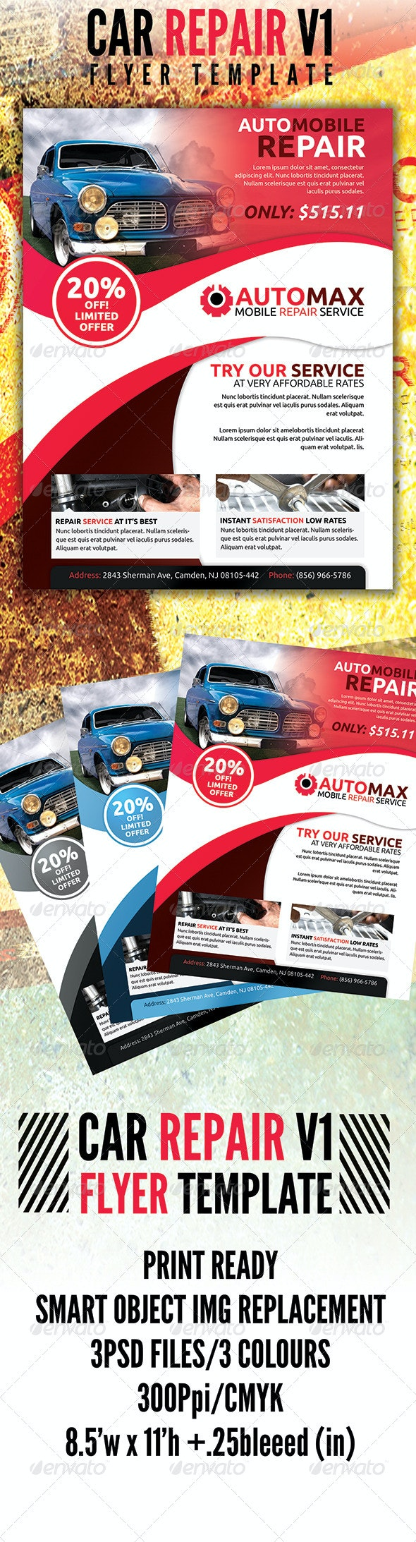 Automobile Flyer v1 - Flyers Print Templates