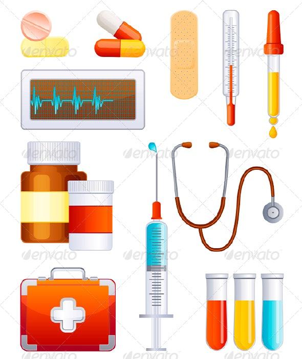 Medicine icon set - Objects Vectors