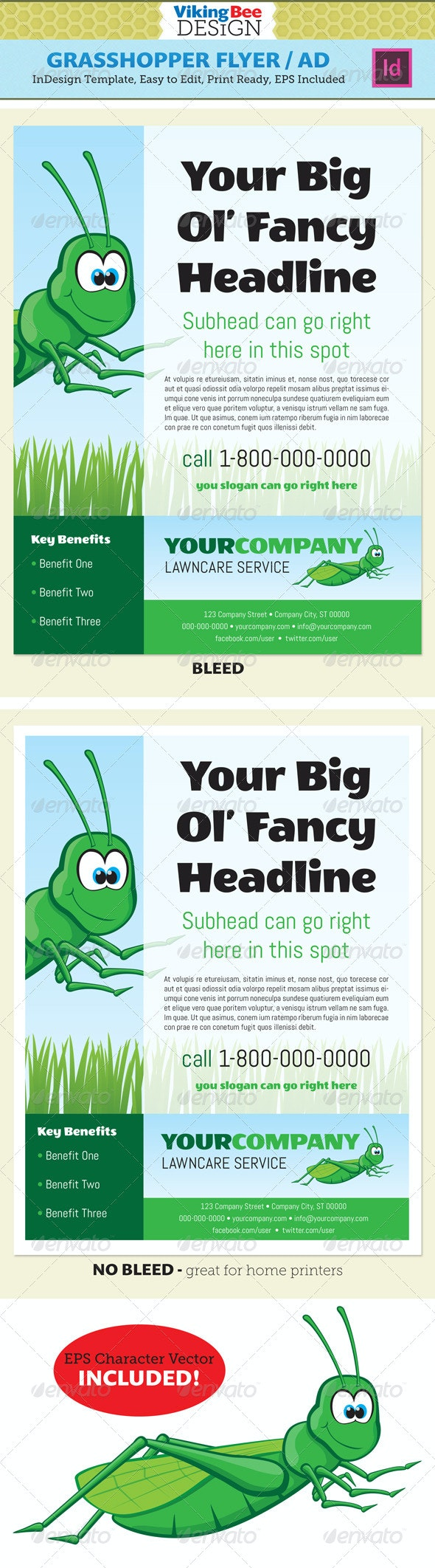 Grasshopper Flyer Template - Corporate Flyers