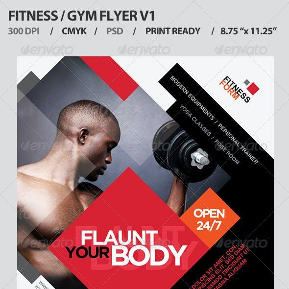Fitness/Gym Business Promotion Flyer V1