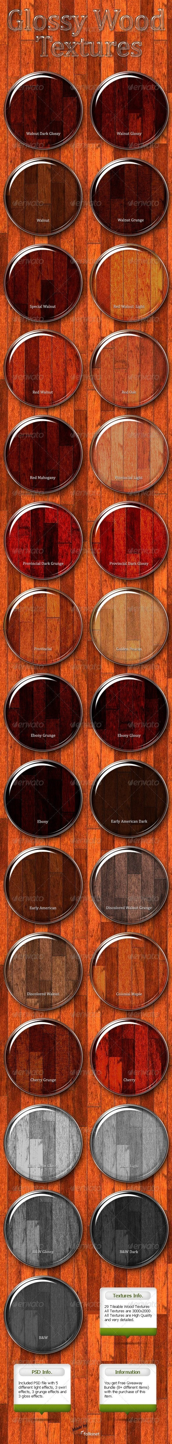 Glossy Wood Textures - Wood Textures