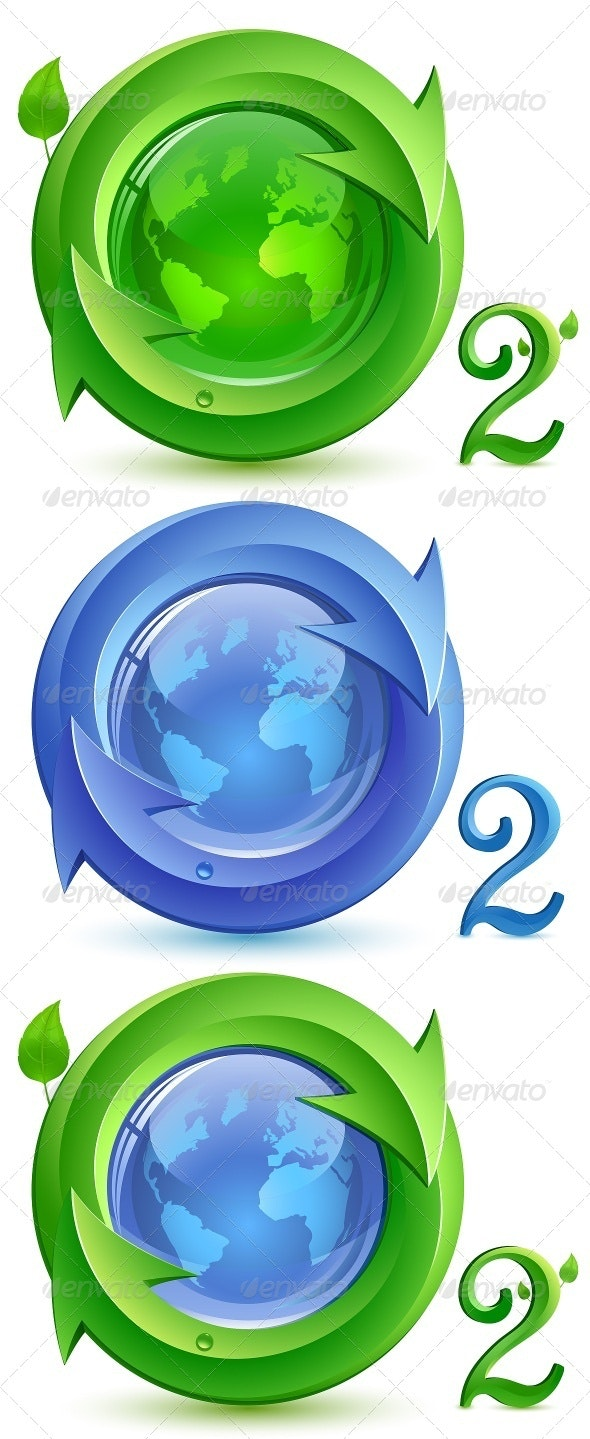 Vector Eco Concept - Oxygen - Nature Conceptual