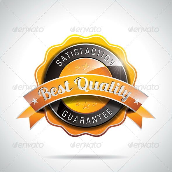 Best Quality Labels Illustration