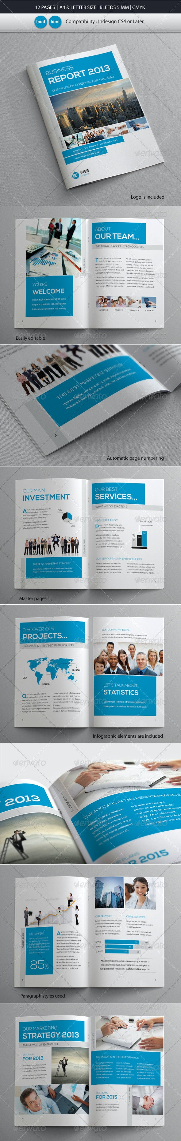 Coprorate & Business Brochure Report Template - Corporate Brochures